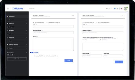 Routee platform dashboard