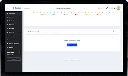 Routee platform campaign menu