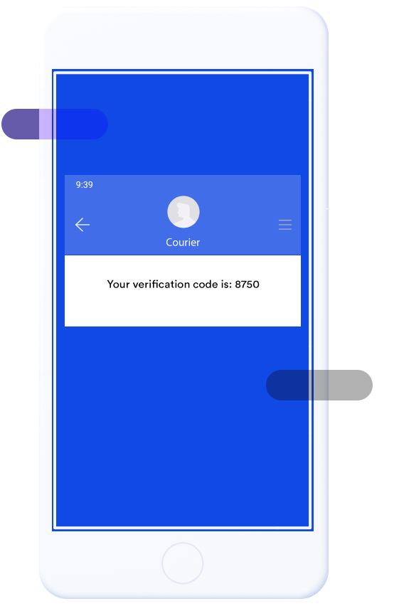 Image of a smartphone receiving an SMS with a verification code