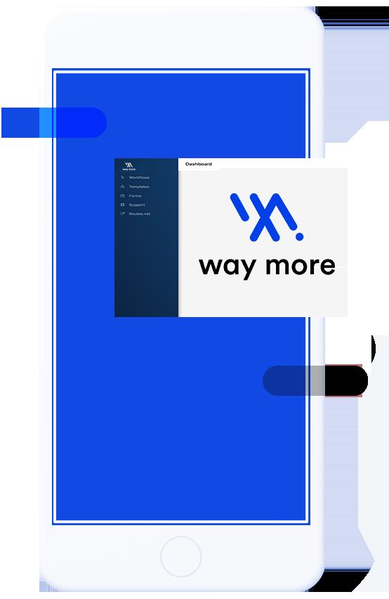 Κινητό που χρησιμοποιεί την πλατφόρμα αυτοματισμού marketing WayMore