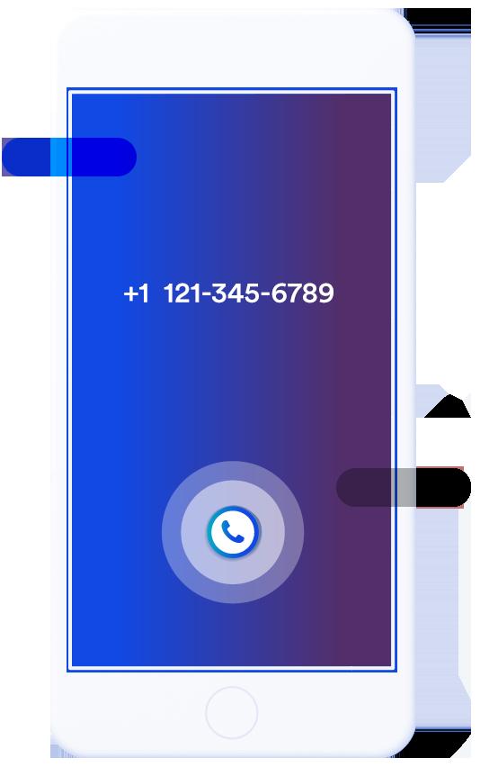 Κινητό που λαμβάνει κλήση από εταιρικό νούμερο